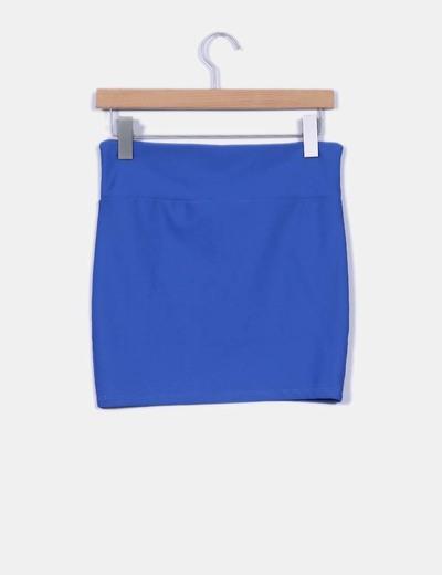 Mini falda ajustada azul klein