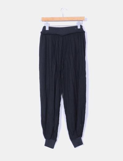 Pantalon baggy fluido negro