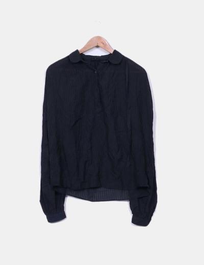 Coleção de blusa preta às riscas kate moss Topshop