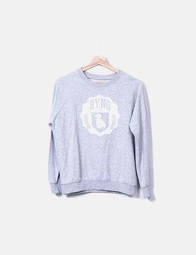 Sweat-shirt gris NoName