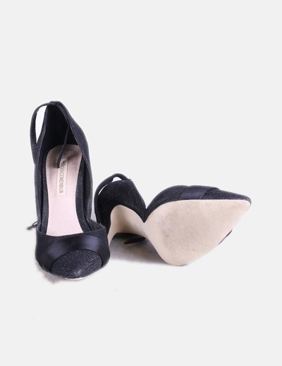 Glitter descuento Micolet Menbur Negro 72 Salón Zapato pw7xxaTqt