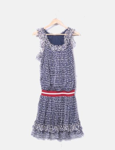 Vestido de gasa estampado