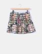 Mini falda estampada Zara
