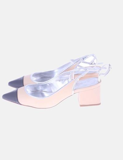 Zapato bicolor destalonado