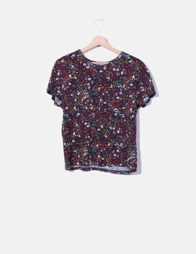Camiseta estampado floral Zara
