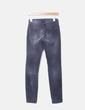 Pantalón pitillo pana gris oscuro Massimo Dutti