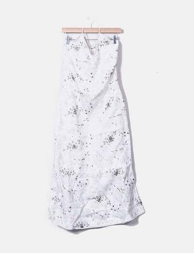 Halter neckline maxi dress with pailettes NoName