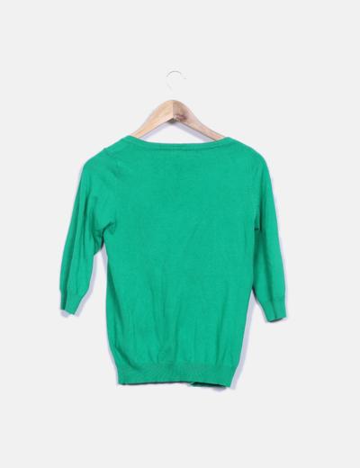 Cardigan tricot verde