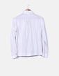 Camisa de rayas tono crudo hilo plateado Massimo Dutti