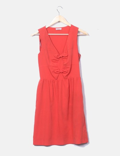 Orange dress with bows detail Claudie Pierlot