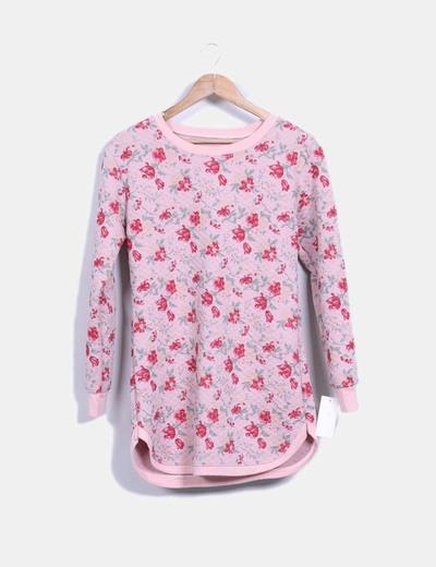 Vestido rosa estampado de flores NoName