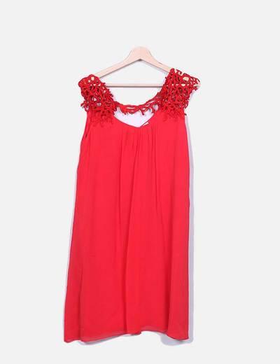Vestido midi rojo Maryan Mehlhorn