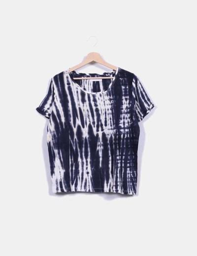 Camiseta azul marino tye die Gat Rimon