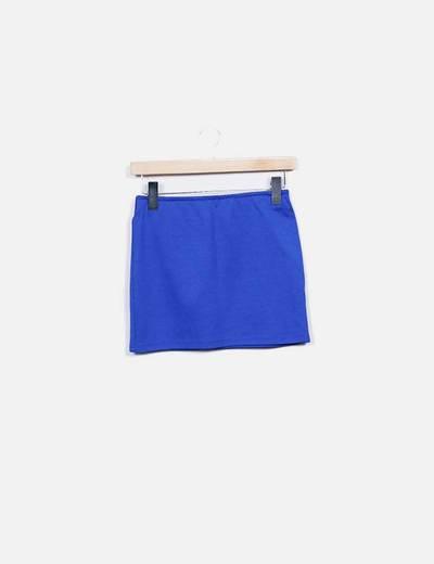 Mini falda elástica azu Shana