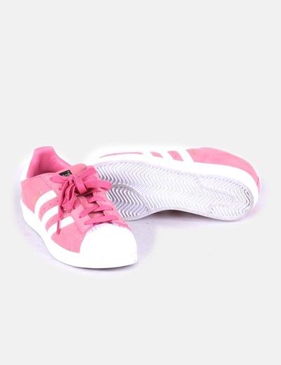 Zapatilla deportiva terciopelo rosa
