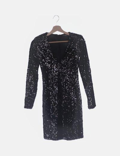 Vestido negro paillettes