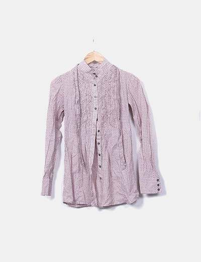 Camisa rosa estampada