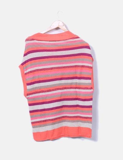 Chaleco oversize tricot rayas