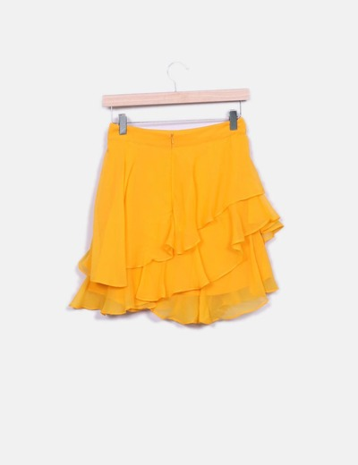 Minifalda naranja vuelo