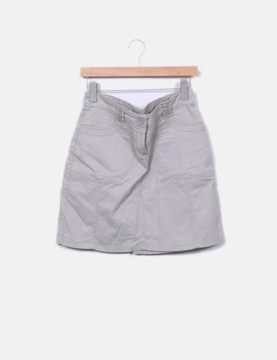 Mini-jupe taupe Tex Woman