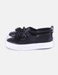 Sneaker negra con elástico Bershka