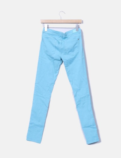 Pantalon denim azul pitillo