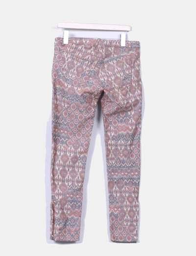 Pantalon estampado efecto desgastado