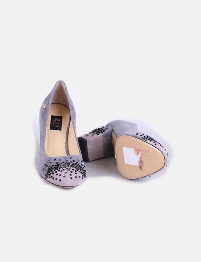 Con Strass Gris Ante Zapatos Zapatos Nnm8wv0