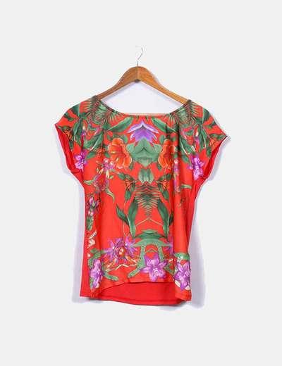 T-shirt à manches courtes floral Cortefiel