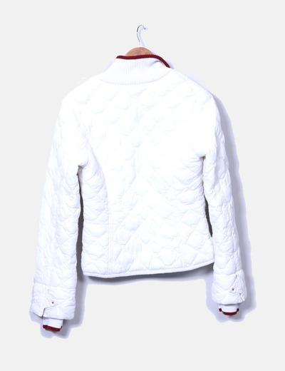 Chaqueta acolchada blanca