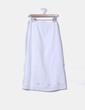 Falda maxi de lino blanco borada Individual Woman