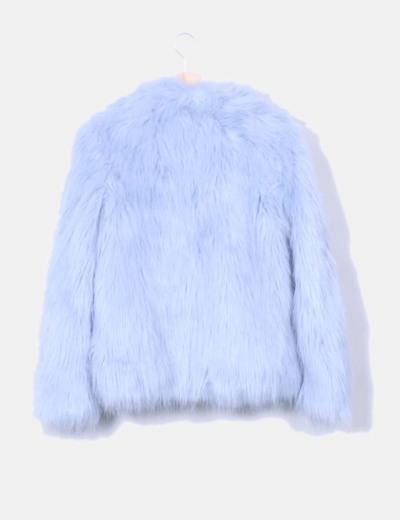 Chaqueton de pelo azul claro
