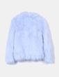 Chaquetón de pelo azul claro Pull&Bear
