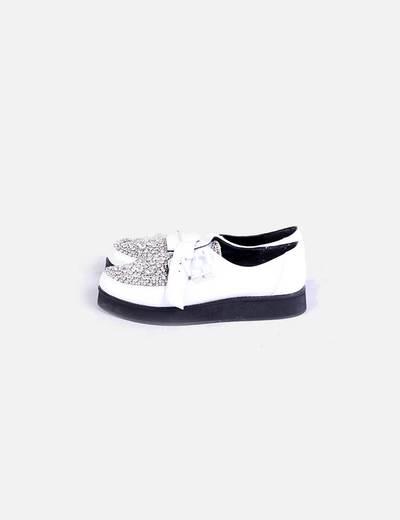 Zapato blanco strass COSMOPARIS
