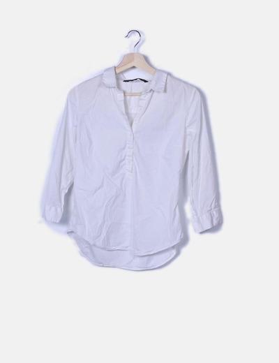 Blusa blanca botones