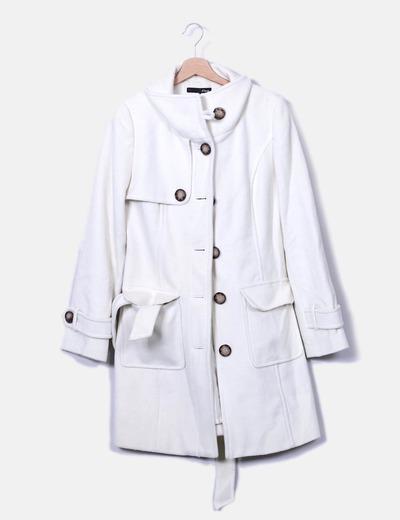 etam manteau blanc de laine r duction 74 micolet. Black Bedroom Furniture Sets. Home Design Ideas