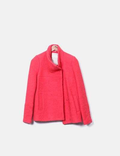 Trenca rizo roja Zara