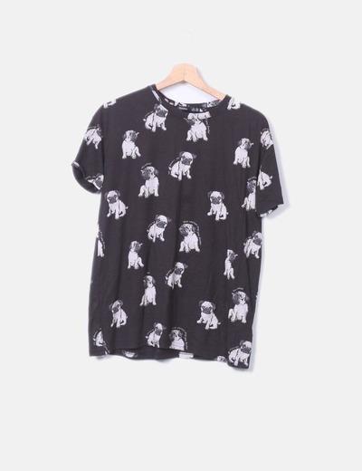 Camiseta print dogs