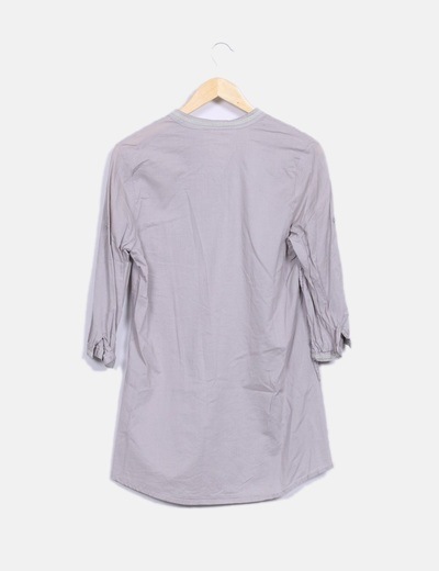 Blusa marron manga larga