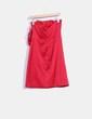 Vestido rojo satinado detalle lazo El Corte Inglés