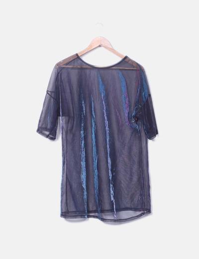 T-shirt maille scintillante NoName