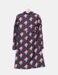 Robe noire imprimé grométrico et jusqu'à la en dentelle à l'avant Hoss Intropia