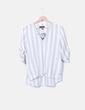 Camisa blanca con rayas azules Primark