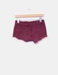 Shorts burdeos con flecos Melville