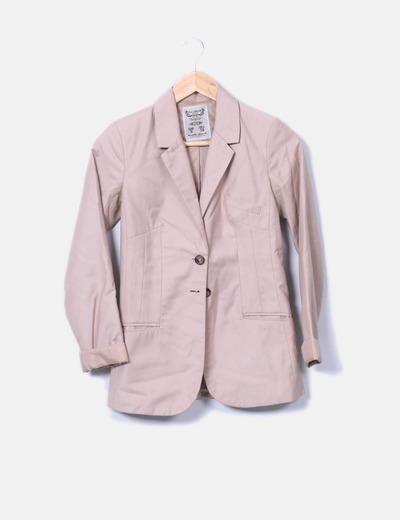 Blazer rosa pastel Pull&Bear