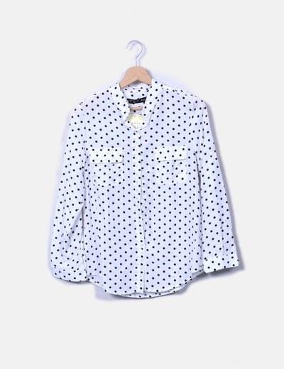 Camisa blanca con topos NoName