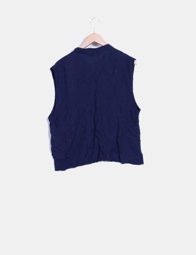 Blusa azul marino sin mangas
