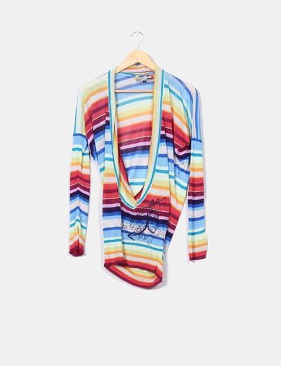Jersey de punto multicolor Desigual