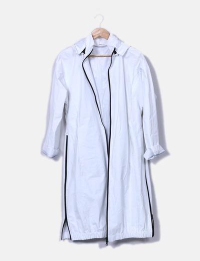 5e5ecfb6928c2 Zara Imperméable blanc imperméable (réduction 73%) - Micolet
