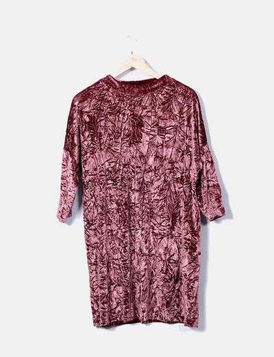 Zara Vestito di vellutato rosa (sconto 76%) - Micolet 6835be2a972